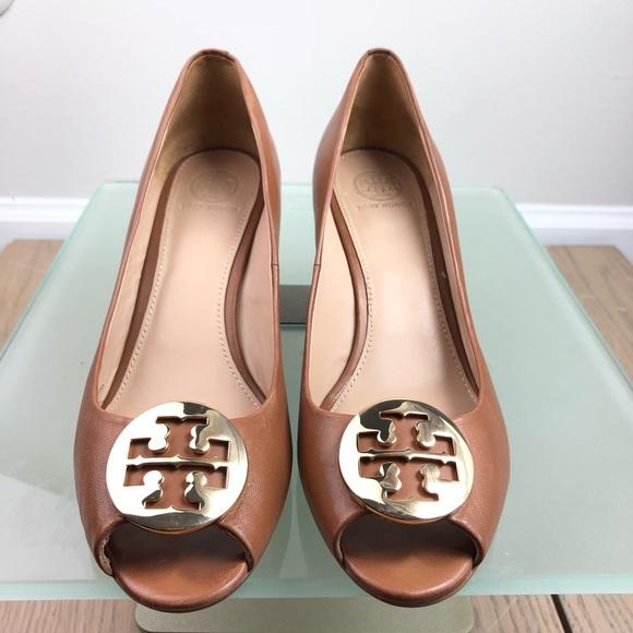 Tory Burch Shoes - Tory Burch Kara peep toe wedges ☘️